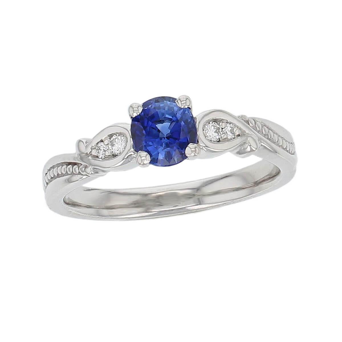 alternative engagement ring, platinum ladies oval cut blue sapphire & diamond designer multi stone engagement ring designed & hand crafted by Faller of Derry/ Londonderry, dress ring, precious gem jewellery, jewelry, shoulder set, vintage, art nouveau, filigree
