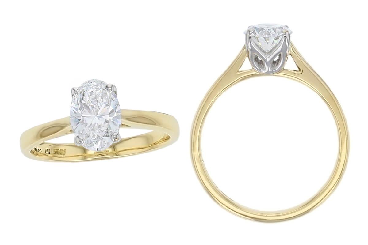 oval single diamond engagement ring design