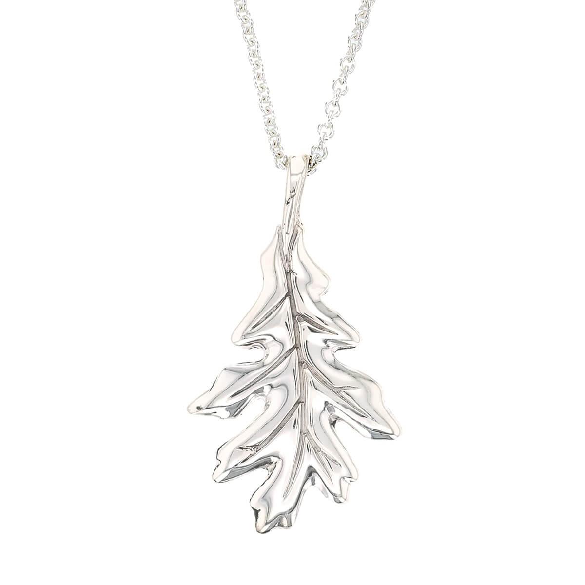 Faller Oakleaf, Derry, Londonderry, Northern Ireland, oak wood, acorn, angel, leaf, St Columba, St. Comcille, christian, heritage, historical, sterling silver pendant
