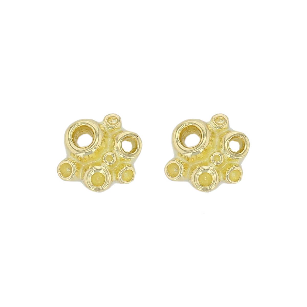 Faller Fizz 18ct yellow gold stud earrings, designer jewellery, jewelry, handcafted