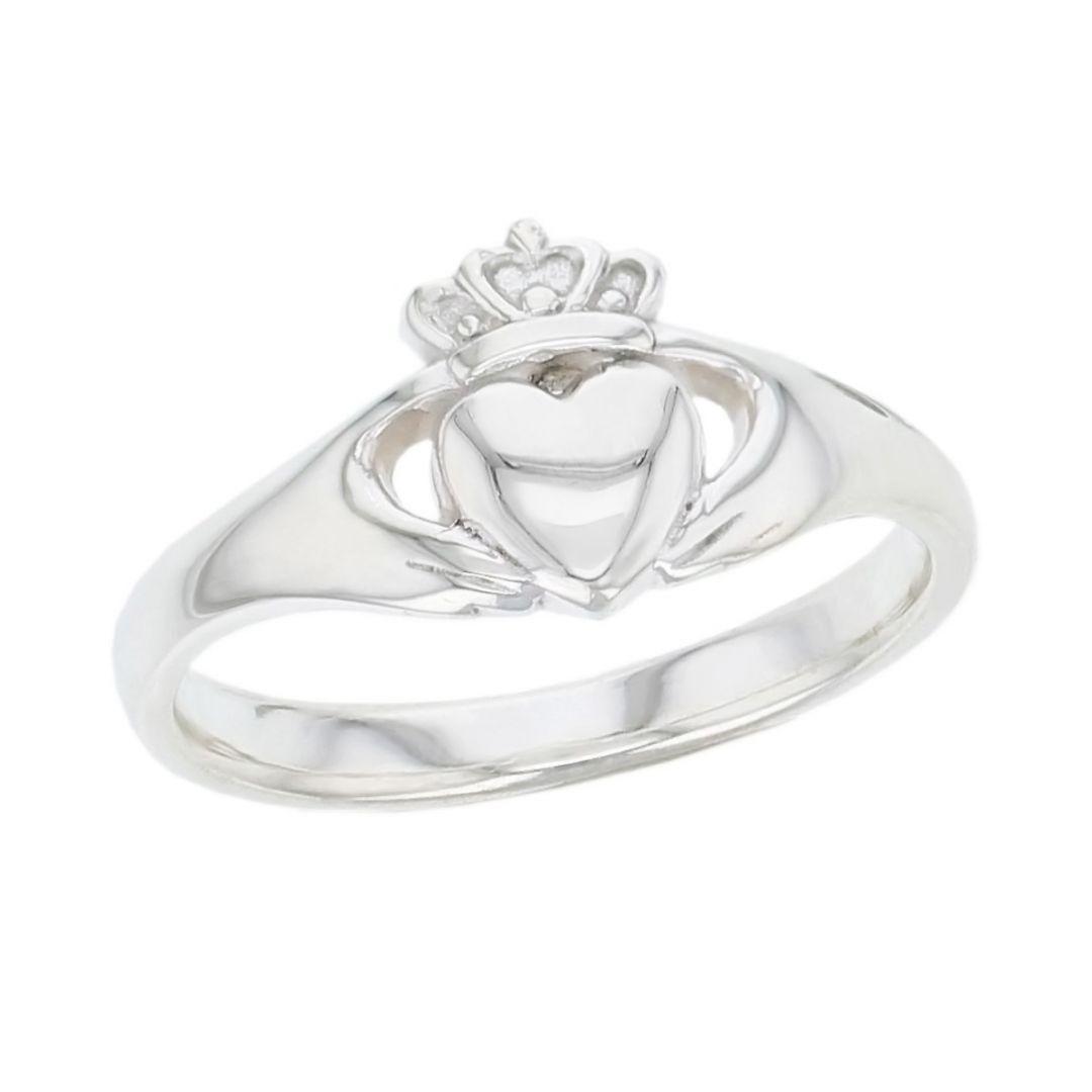 Faller Claddagh, sterling silver, Irish, love, loyalty & friendship, hands, heart & crown, dress ring, ladies