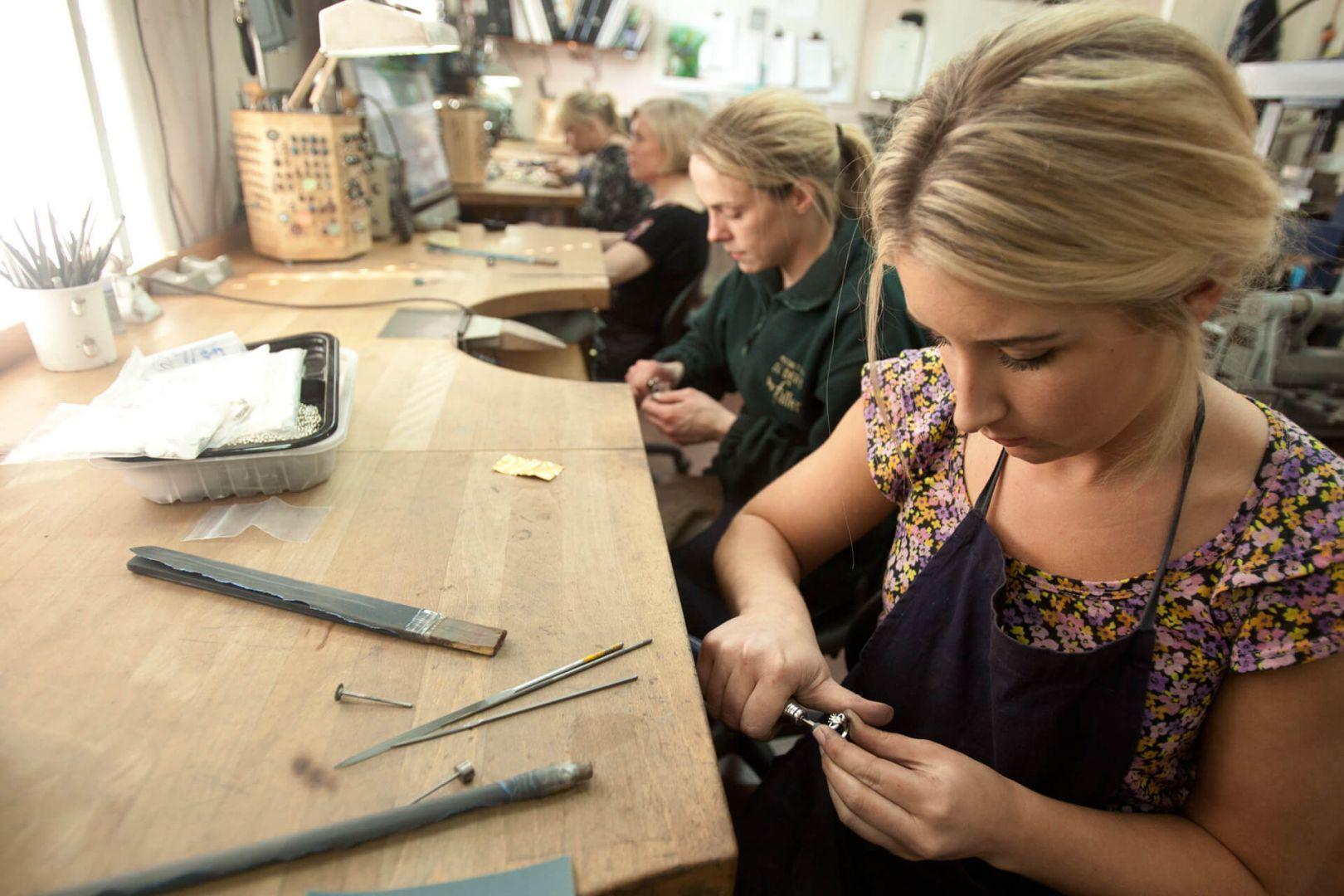 Faller goldsmiths at work, Faller the Jeweller, Derry/ Londonderry