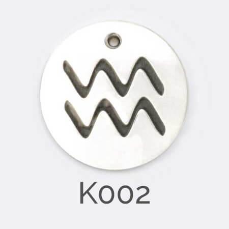 Faller Kryptos disc, sterling silver, message pendant, personalised engraving, make your own, jewellery, gift, celebration, zodiac pendant, Aquarius pendant