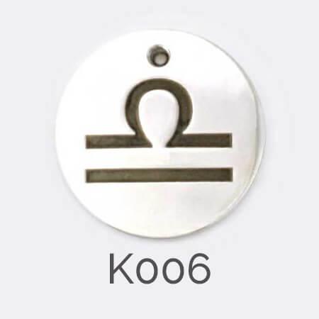 Faller Kryptos disc, sterling silver, message pendant, personalised engraving, make your own, jewellery, gift, celebration, zodiac pendant, Libra pendant