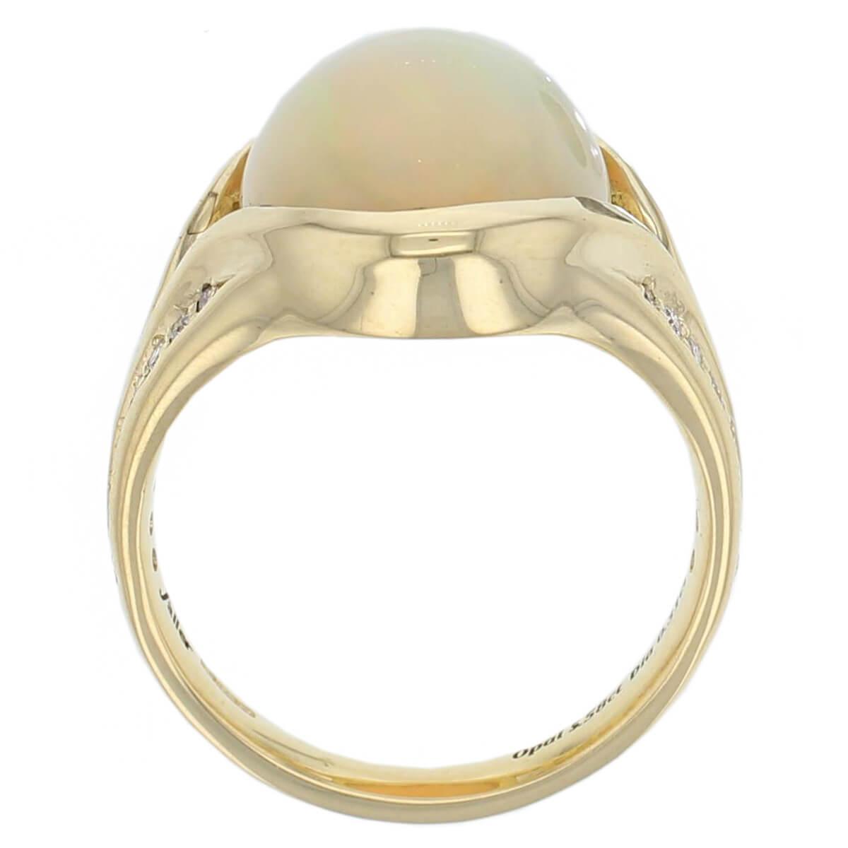 opal diamond ring, 18ct yellow gold oval cut cabochon opal gemstone & diamond multistone dress ring, designer jewellery, gem, jewelry, handmade by Faller, Londonderry, Northern Ireland, Irish hand crafted, shoulder set