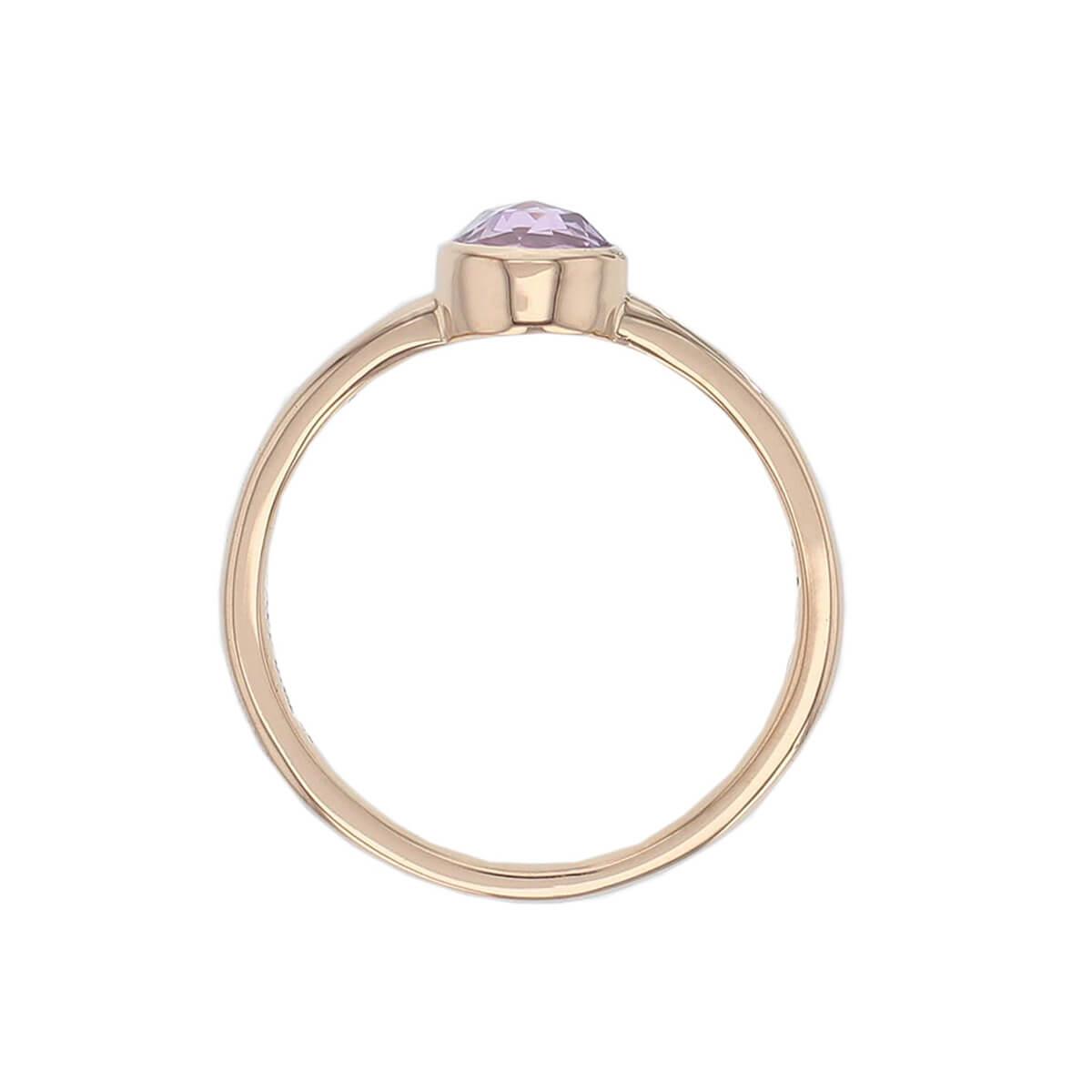 Kandy 18ct rose gold purple round rose cut sapphire gemstone ladies dress ring, designer jewellery, gem, jewelry, handmade by Faller, Londonderry, Northern Ireland, Irish hand crafted