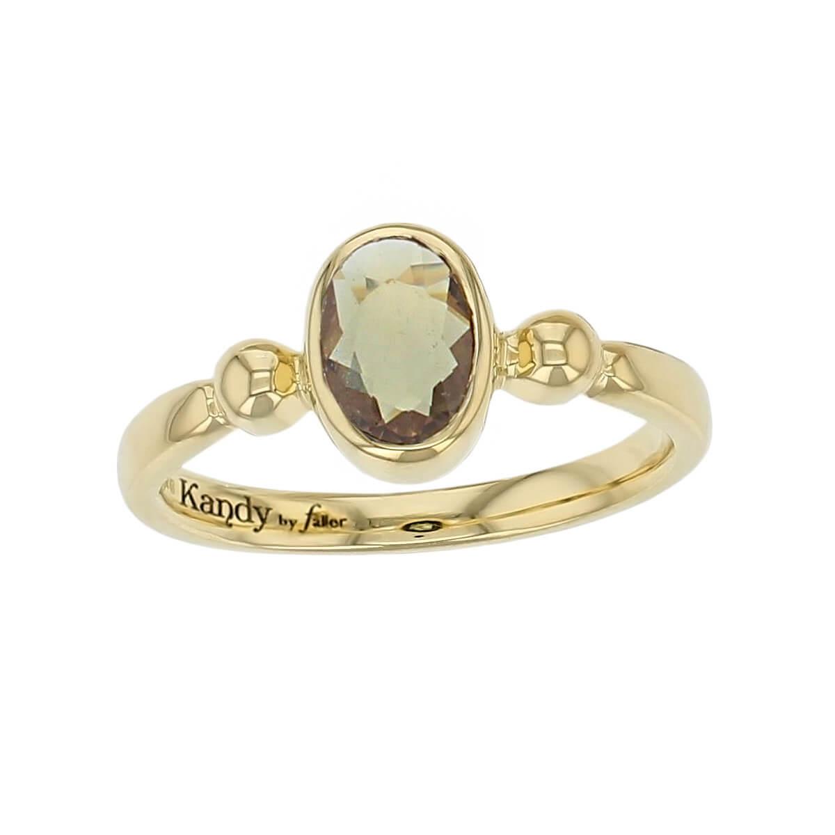 Kandy 18ct yellow gold pale cognac oval rose cut sapphire gemstone ladies dress ring, designer jewellery, gem, jewelry, handmade by Faller, Londonderry, Northern Ireland, Irish hand crafted